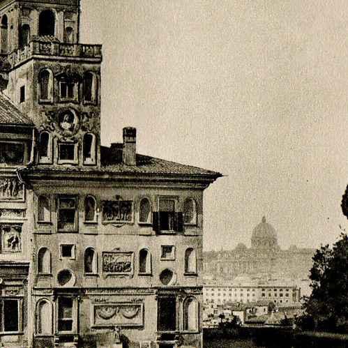 Gravures anciennes gravure de villa m dicis rome for Jardin villa medicis rome