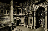 Olympic Theatre in Vicenza - Andrea Palladio - Vincenzo Scamozzi - Cavea or Seating Area - Loggia or Columned Portico (Italy)