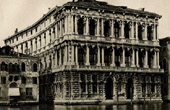 Ca' Pesaro in Venice - Grand Canal of Venice - Designed by Baldassarre Longhena - Completed by Gian Antonio Gaspari (Italy)