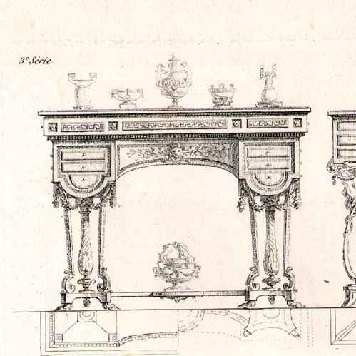 Grabados antiguos ebanista muebles franceses antiguos for Muebles franceses