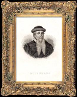 Retrato de Gutenberg - Inventor de la Imprenta