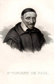 Portrait of St Vincent de Paul (1581-1660) - Vincent Depaul