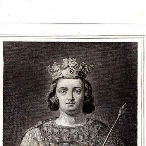 gravures anciennes portrait de charles iv de france charles le bel 1294 1328 gravure en. Black Bedroom Furniture Sets. Home Design Ideas