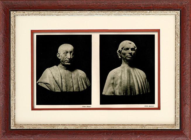Gravures Anciennes & Dessins | Sculpture Italienne - Buste de Pietro Mellini (Benedetto da Majano) - Buste dit de Machiavel | Héliogravure | 1920
