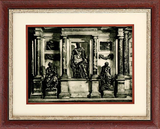 Antique Prints & Drawings | Italian Sculpture - Sepulchre of Gian Giacomo Medici (Leone Leoni) | Heliogravure | 1920