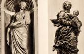 Antique print - Belgian Sculpture - Statues - Santa Susanna (François Duquesnoy) - Virgin Mary and Jesus Child (Jean Delcour)