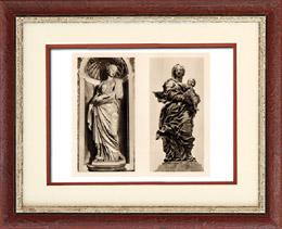 Belgian Sculpture - Statues - Santa Susanna (Fran�ois Duquesnoy) - Virgin Mary and Jesus Child (Jean Delcour)