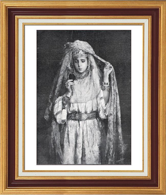 Gravures Anciennes & Dessins | Tableau de Marie Aimée Lucas-Robiquet - Orientalisme - Aicha | Typogravure | 1900