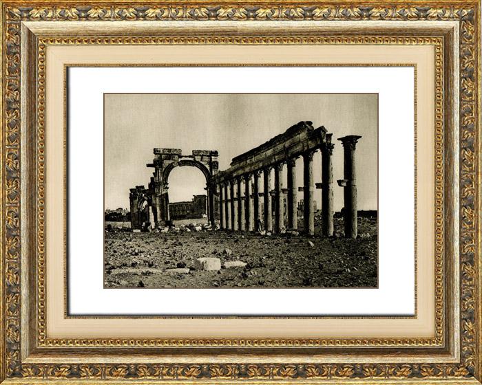 Stampe Antiche & Disegni | Arte dell'ex Asia Occidentale - Colonni e Arco Trionfale ad Palmira - Epoca Romana | Heliogravure | 1920