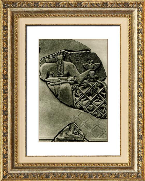 Gravures Anciennes & Dessins | Art de l'Asie Occidentale Ancienne - Fragment de la Stèle des Vautours - Dynasties Archaïques Sumériennes  | Héliogravure | 1920