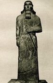 Art of the Ancient Occidental Asia - Statue - Ashurnasirpal II - King of Assyria