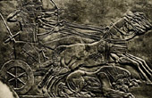 Art of the Ancient Occidental Asia - Ashurnasirpal - Assurnasirpal II King of Assyria Hunting the Lion - 879s BC