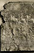 Grabado de Arte del Asia Occidental Antiguo - Jinetes de Ashurnasirpal II Rey de Asiria
