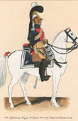 Uniform - French Army under the Restoration - 1819 - Royal Gendarmerie - Compagnie des Voyage