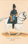 Uniform - French Army under the Restoration - 1819 - Royal Gendarmerie- Lieutenant - Petite Tenue