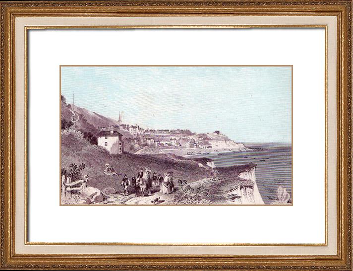 Gravures Anciennes & Dessins   Île de Wight - Ventnor (Grande-Bretagne)   Typogravure   1870