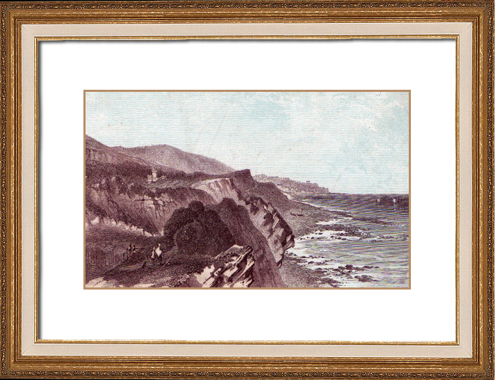 Gravures Anciennes & Dessins | Île de Wight - Steephill - Ventnor (Grande-Bretagne) | Typogravure | 1870