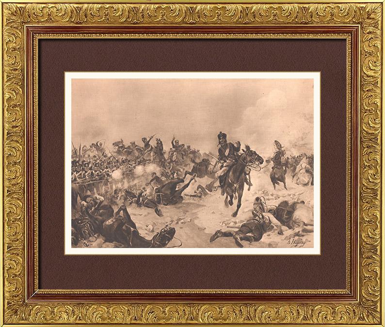 Gravures Anciennes & Dessins   Bataille de Fuentes de Oñoro - Guerres Napoléoniennes -  Guerre d'Indépendance Espagnole - Masséna - Wellington (1811)   Photogravure   1900