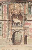 Schloss Blois - Portal - Reiterdenkmal von Ludwig XII - Loir-et-Cher (Frankreich)