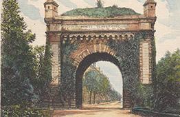Vue de Metz - Porte Serpenoise - Via Scarponensis - Moselle (France)