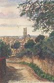 View of Clamecy - Chemin de la Croix Pataud - Burgundy - Nièvre (France)