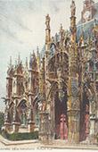 Ansicht von Louviers - Kirche - Portal - Eure (Frankreich)
