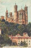 View of Lyons - Basilica of Notre-Dame de Fourvière - Rhône (France)