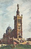 Vista de Marsella - Basílica Notre-Dame-de-la-Garde - Provenza (Francia)