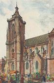 St Martin's Church of Colmar - Alsace - Haut-Rhin (France)