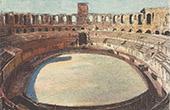 Amphitheater von Arles - Roman R�mischer - Bouches-du-Rhone (Frankreich)