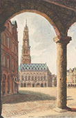 View of Arras - City Hall - Bell Tower - Arcades - Pas-de-Calais (France)