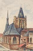 Ansicht von L'Aigle - Sankt Martin Kirche - Normandie - Orne (Frankreich)