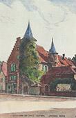 View of Sainte-Marie-aux-Mines - Ancienne Mairie - Pharmacie de la Tour - Haut-Rhin (France)