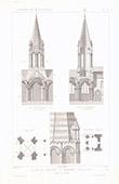 Architektenzeichnung - Kirche von Conflans-Sainte-Honorine - Yvelines (Frankreich)