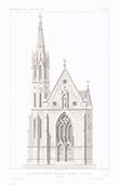 Architektenzeichnung - Kirche von Frères de Saint-Lazare - Gratz - Steiermark (Österreich)