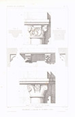 Architect's Drawing - Church of Colombes - Capitals - Hauts-de-Seine(France)