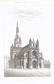 Dibujo de Arquitecto - Basílica de Sainte-Anne d'Auray - Morbihan - Francia (E. Deperthes)