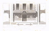 Architect's Drawing - Church of Héloup - Reconstruction - Orne - France (M. Hédin)