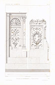 Architect's Drawing - Church of Montmorency - Choir stalls - Val-d'Oise (France)