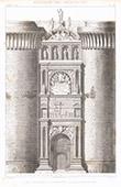 Architektenzeichnung - Architektur - Triumphbogen von Alfons V. von Aragon am Neuen Schloss von Neapel - Castel Nuovo (Italien)