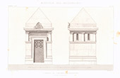 Architect's Drawing - Tomb - Montmartre Cemetery - Paris (P. Gion)