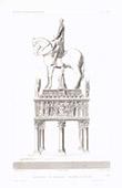 Architektenzeichnung - Begräbnisdenkmal von Barnabé Visconti - Sforza Schloss - Mailand (Italien)
