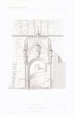Architect's Drawing - Bratislava Castle - Sigismond Gate (Slovakia)