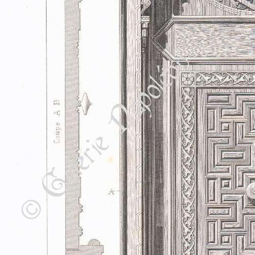 Stampe antiche disegno di architetto palazzo di vicer - Architetto porta ...