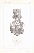 Architect's Drawing - Bronze door knocker - XVIIth Century (M. Armand)