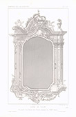 Architect's Drawing - Frame of a mirror - XVIIIth Century (Italy)
