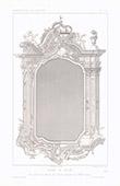 Architektenzeichnung - Rahmen eines Spiegels - XVIII. Jahrhundert (Italien)