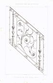 Dibujo de Arquitecto - Herrería - Escalera de hierro labrado (M. Magne)