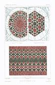 Architektenzeichnung - Parkettierung aus Mosaik - Rom (Italien)