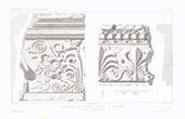 Architektenzeichnung - Dachrinnen aus Terrakotta - Pompei (Italien)